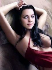 Evanescence singer Amy Lee shown with..