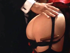 Celebrity babe Dana Delany has her bare ass played with