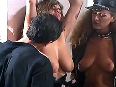 Debora Caprioglio spanking on a perfect ass in a lesbian video
