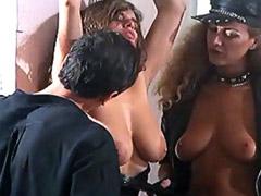 Debora Caprioglio spanking on a..