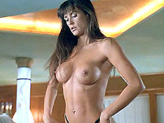 Naked Demi Moore undresses and posing
