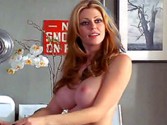Actress and former model Diora Baird topless laying on bed with guy