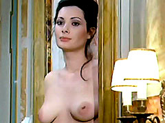 An Italian actress Edwige Fenech showing her great breasts