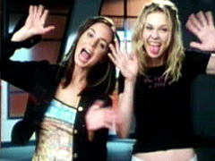 Actresses Eliza Dushku and Kirsten..