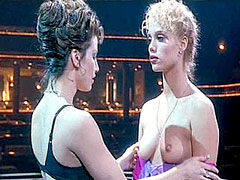 Blonde celebrity Elizabeth Berkley..