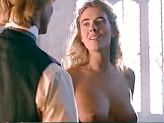Fully nude Elizabeth Hurley and guy