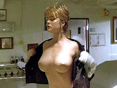 Sexy model Erika Eleniak shows huge..