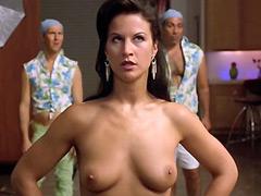 Eva Derrek standing fully naked,..