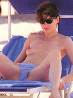 Geena Davis paparazzi topless banned pics