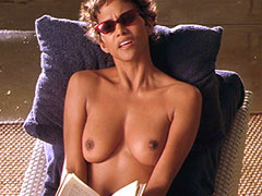 Halle Berry in hot black bikini with a..