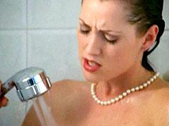 Holly Hollywood naked washing her..