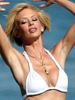 Actress Jenna Jameson in white bikini..