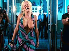 Jenny Mccarthy tears a dress and..