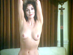 Beautiful Joan Collins undresses and posing naked