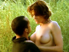 Busty Joan Severance nude jumping on a..