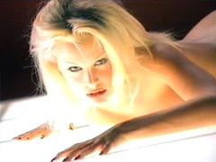 Model Julia Schultz spreads legs..