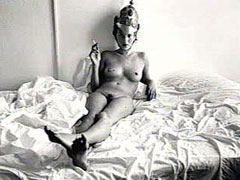Nude Kate Moss Poses in a ridiculous..