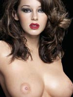 Keeley Hazell posing topless in this..
