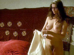 Laetitia Casta fully naked exposes her great breasts and bare bush