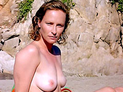 Laila Robins fully undresses and..
