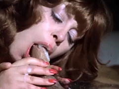 Lina Romay hefty oral sex to..