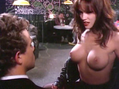 Lisa Boyle open her jacket and showing to guy big breasts