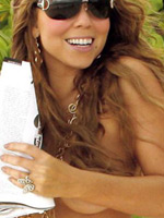 American pop singer Mariah Carey..