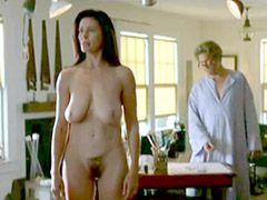 Naked Mimi Rogers shows huge boobs and..