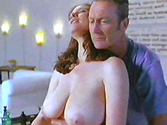 Chubby celebrity Mimi Rogers exposes mature nude body