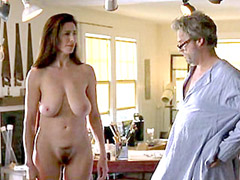 Busty celebrity actress Mimi Rogers posing fully naked
