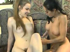 Misty Mundae spreads hairy pussy and..