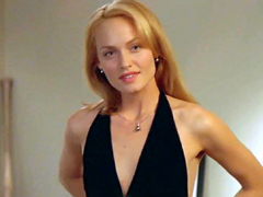 Amber Valletta shows a quick glimpse..