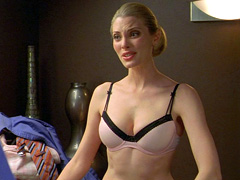 April Bowlby shows off her sexy body in a polka dot bra and panties