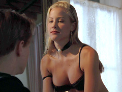 Brittany Daniel exposes her hot ass and perky tits during..