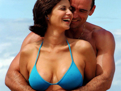 Catherine Bell displays her tits and ass on TV