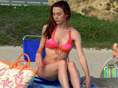 Christy Carlson Romano flaunts her sexy T&A bathing in the shower