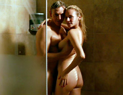Diane Kruger flashes her sexy T&A while in bed with her man