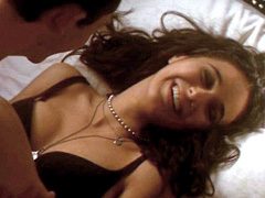 Emmanuelle Chriqui displays her sexy body in cute black underwear