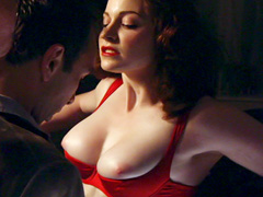 Esme Bianco displays her ample..