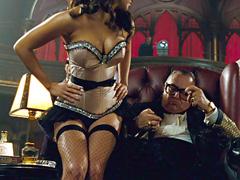 Jamie Chung flaunts her seductive body in a small polka dot bikini