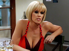 Jenny McCarthy plays with her giant..
