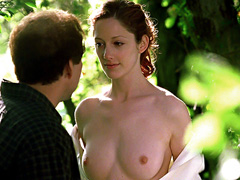 Judy Greer peels and reveals her naked..