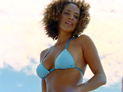 Karyn Parsons takes her awesome bikini..