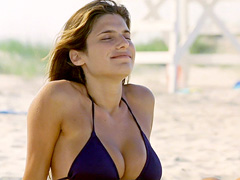 Lake Bell shows her huge tits and..