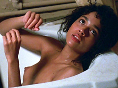 Lisa Bonet displays her rocking wet rack and perfect pointy nipples