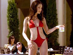 Maggie Q slips left breast while..
