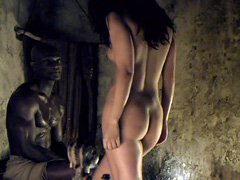Marisa Ramirez gets naked and rides a Roman