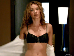 Natalie Zea looks amazing in black and..