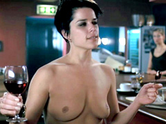 Neve Campbell gives a great look at her boobs and butt in the shower