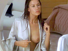 Rhona Mitra take it off in front of a mirror